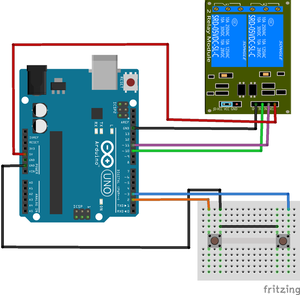 Relay connection with arduino