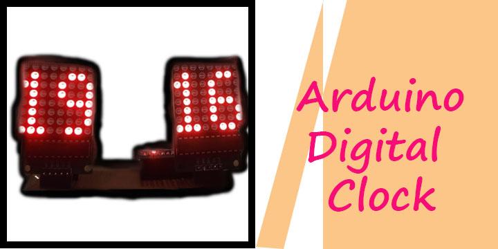 Digital Clock using Dot Matrix and Arduino