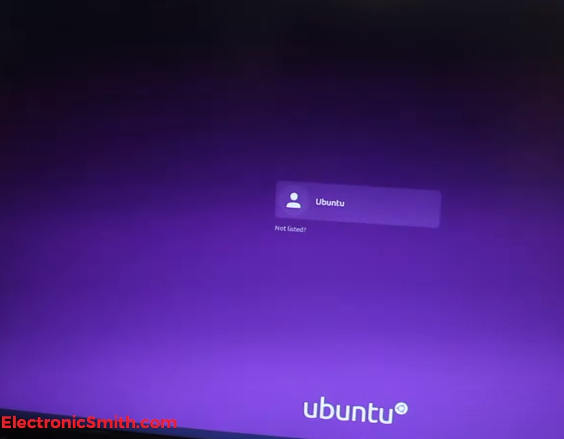 ubuntu on raspberry pi 4 login